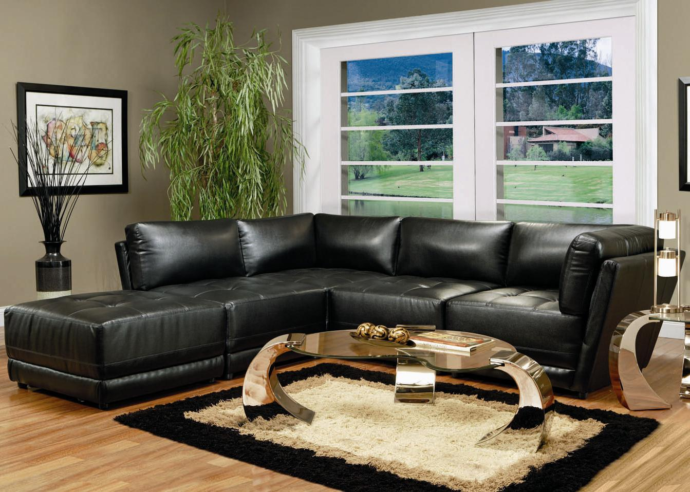 Swell Kayson Contemporary Leather Sectional Sofa Pabps2019 Chair Design Images Pabps2019Com