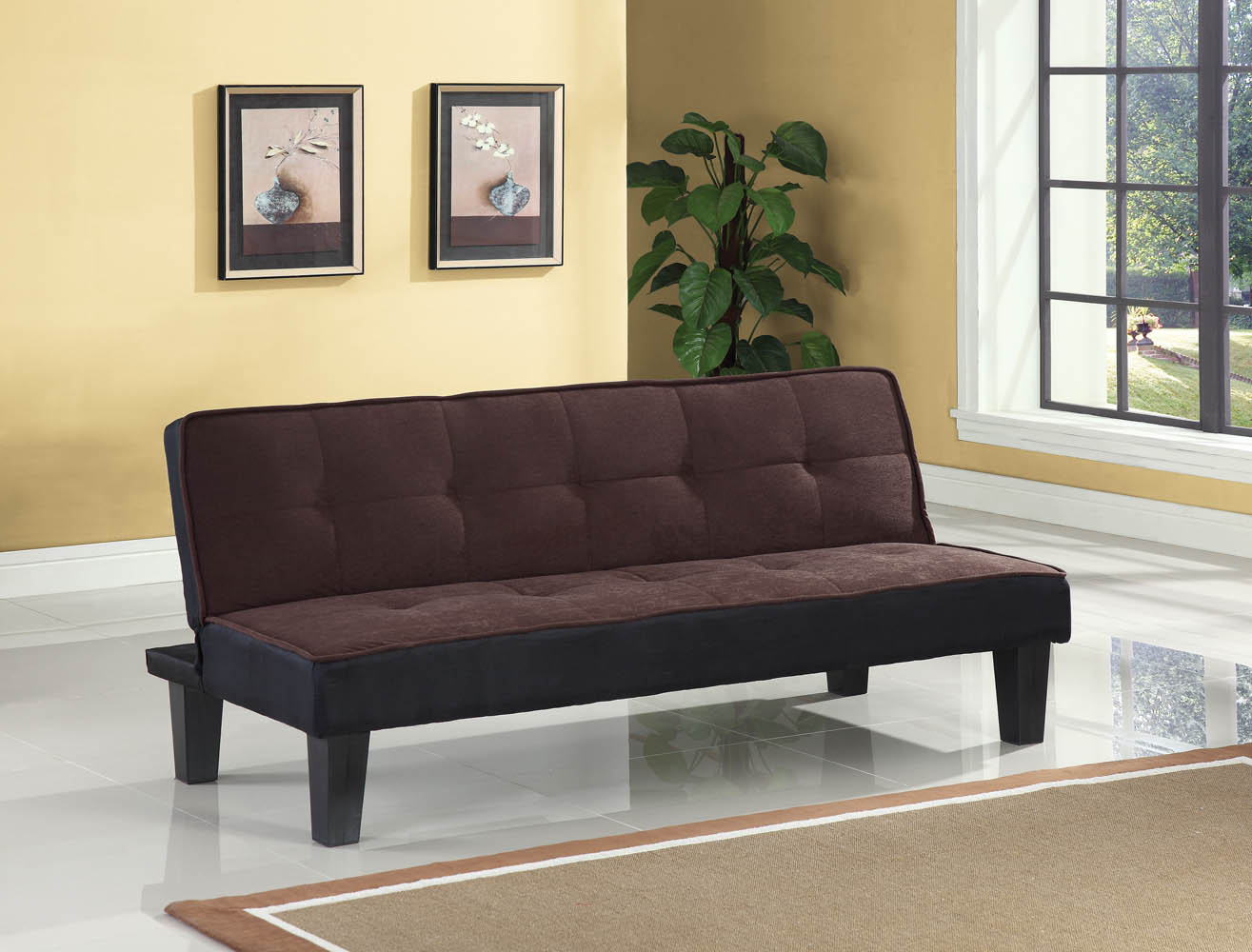 Brown Adjustable Sofa Bed