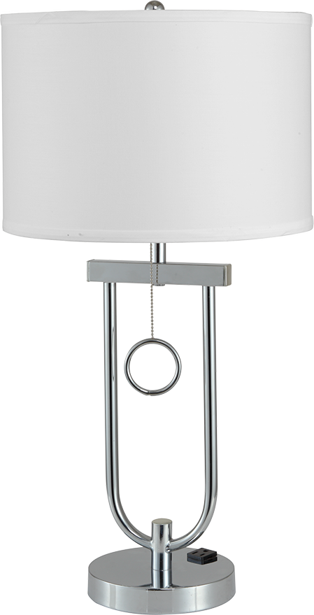 Modern Chrome Accent Tall Table Desk Lamp