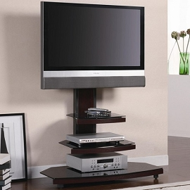 Contemporary Tiered Media Console with Bracket