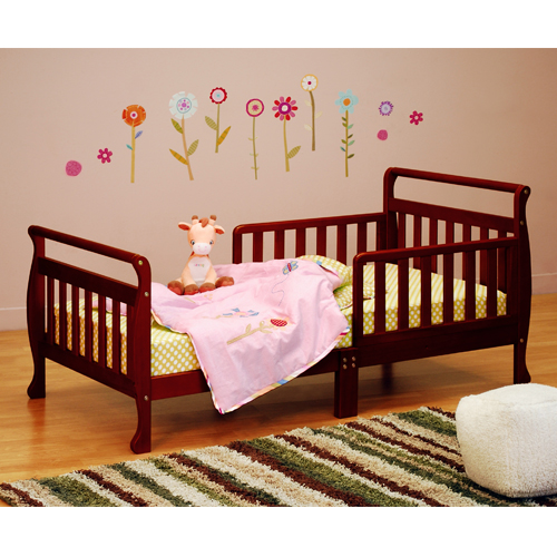 Solid Wood Toddler Bed  with Mattress