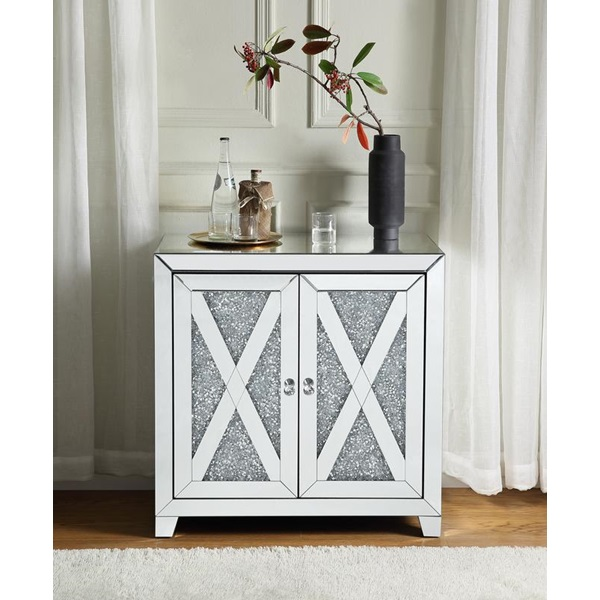 Mirrored Console Table With Faux, Contemporary Mirrored Console Table