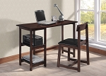 Espresso Finish Two Piece Desks and Chair