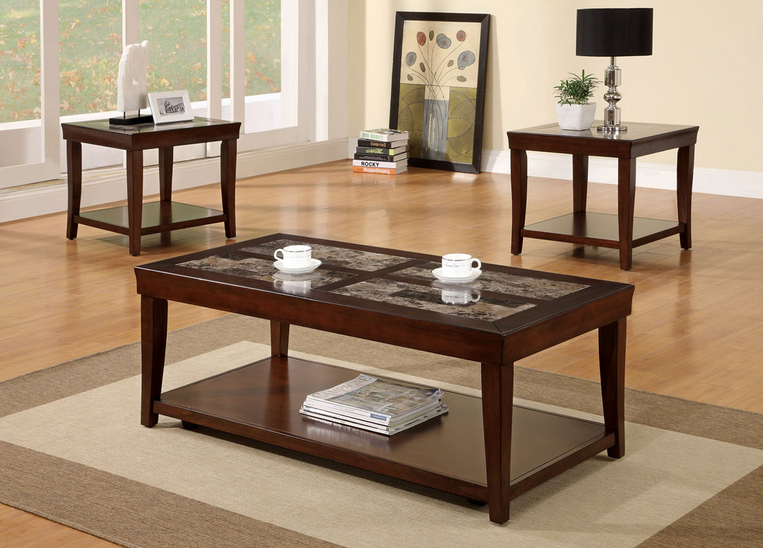 3 Piece Wooden Coffee Table Set p 2814