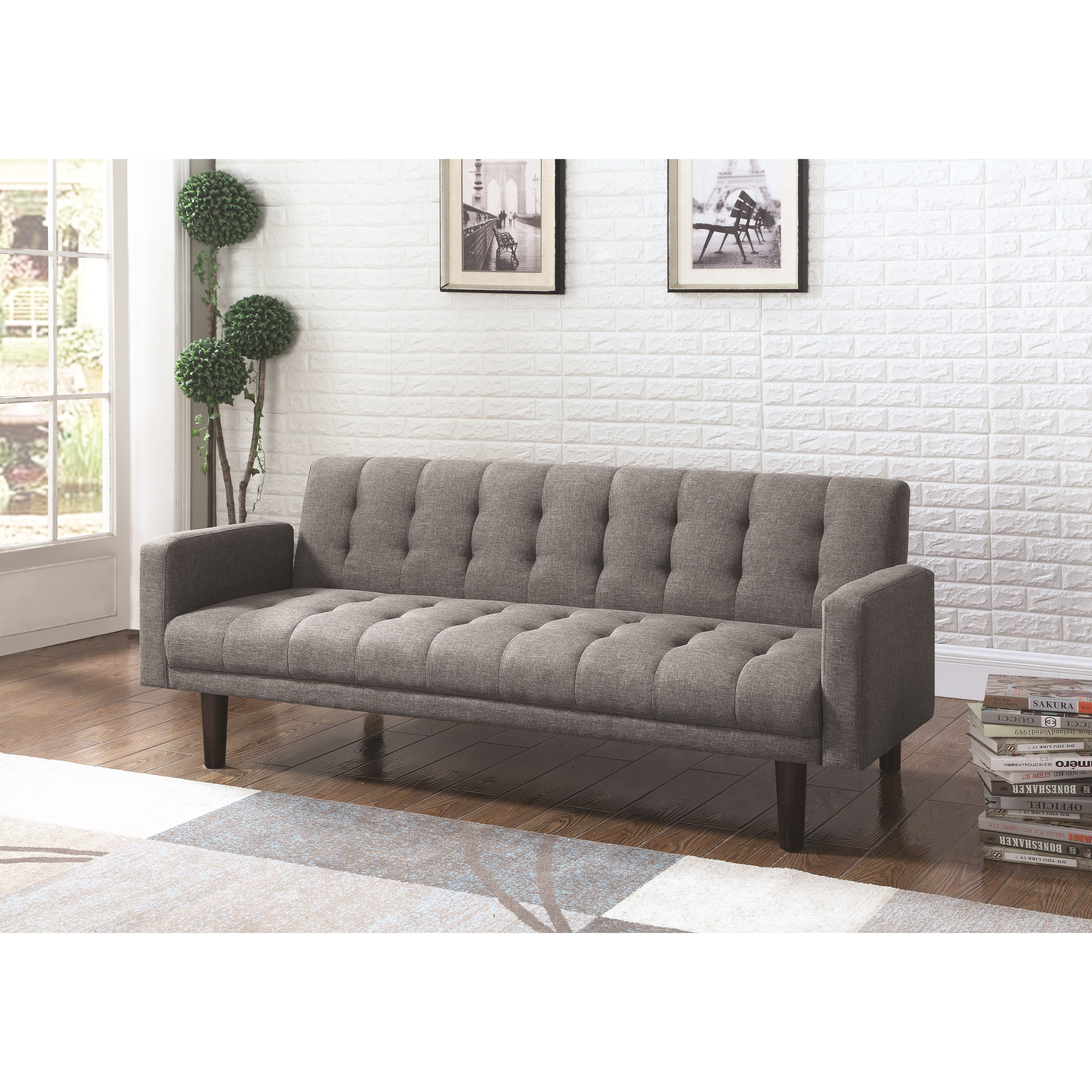 Skyler Modern Sofa Bed with Button Tufting UMF360010