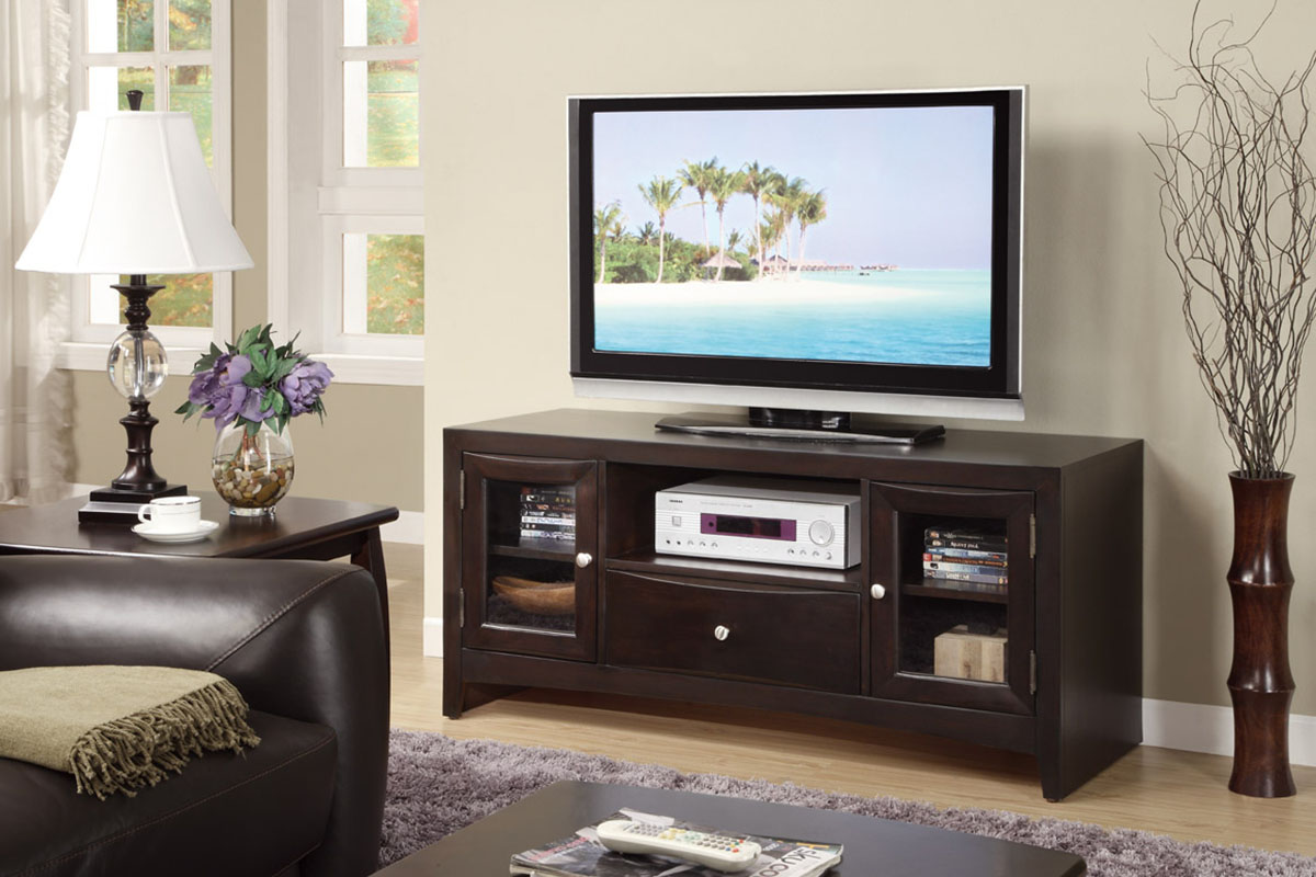 dark espresso tv stand with compartments - Bedroom Tv Stand