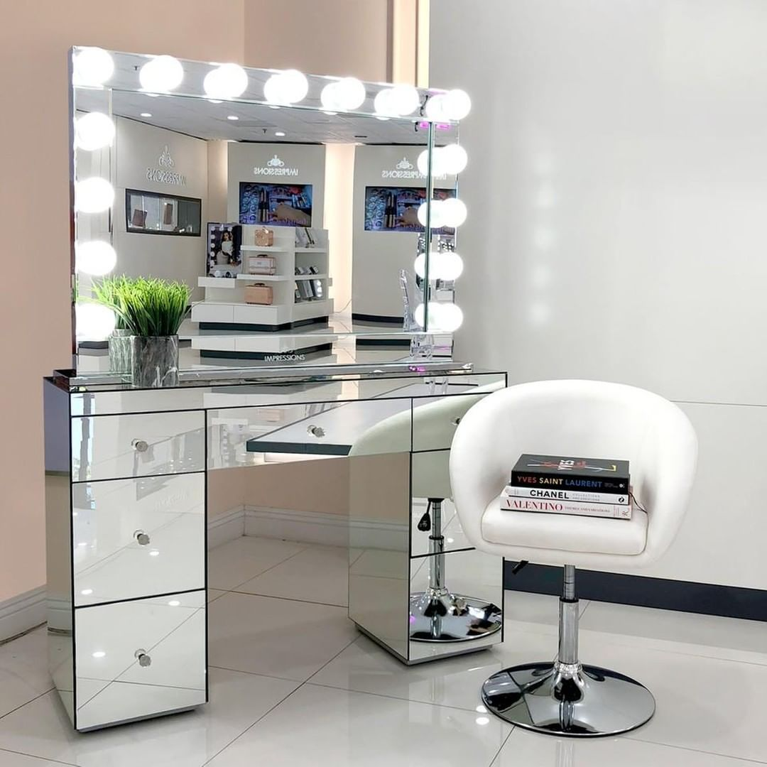 ABBY PREMIUM MIRRORED VANITY TABLE