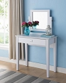 White Vanity with Drawer
