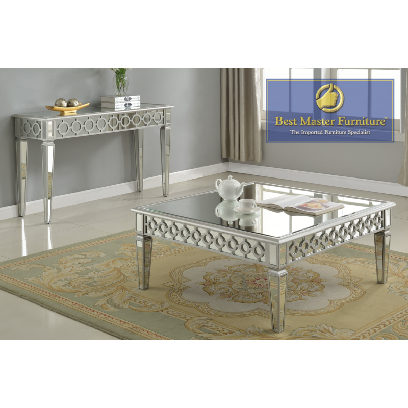 T1840 Mirrored Coffee Table Set
