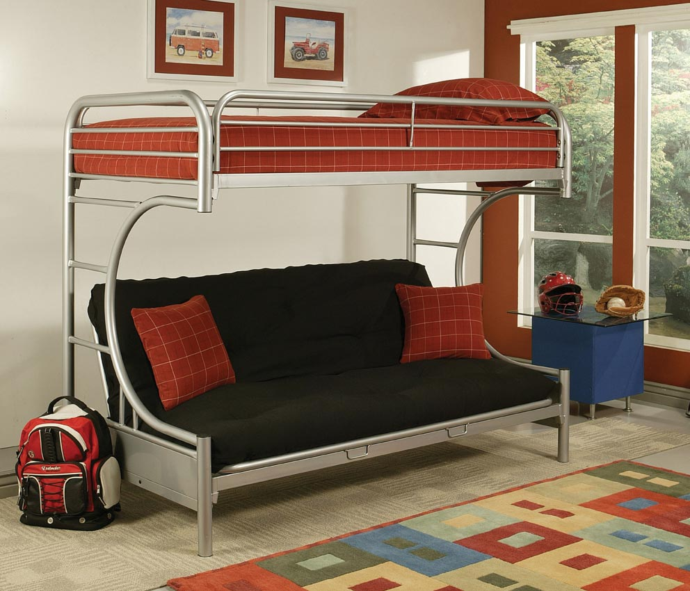 Twin On Top And Futon On The Bottom Making It The Perfect