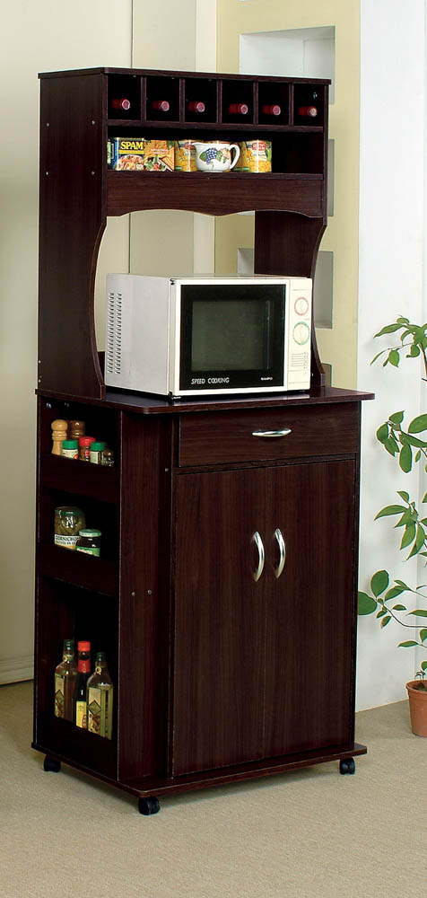 Espresso Finish Large Microwave Cart