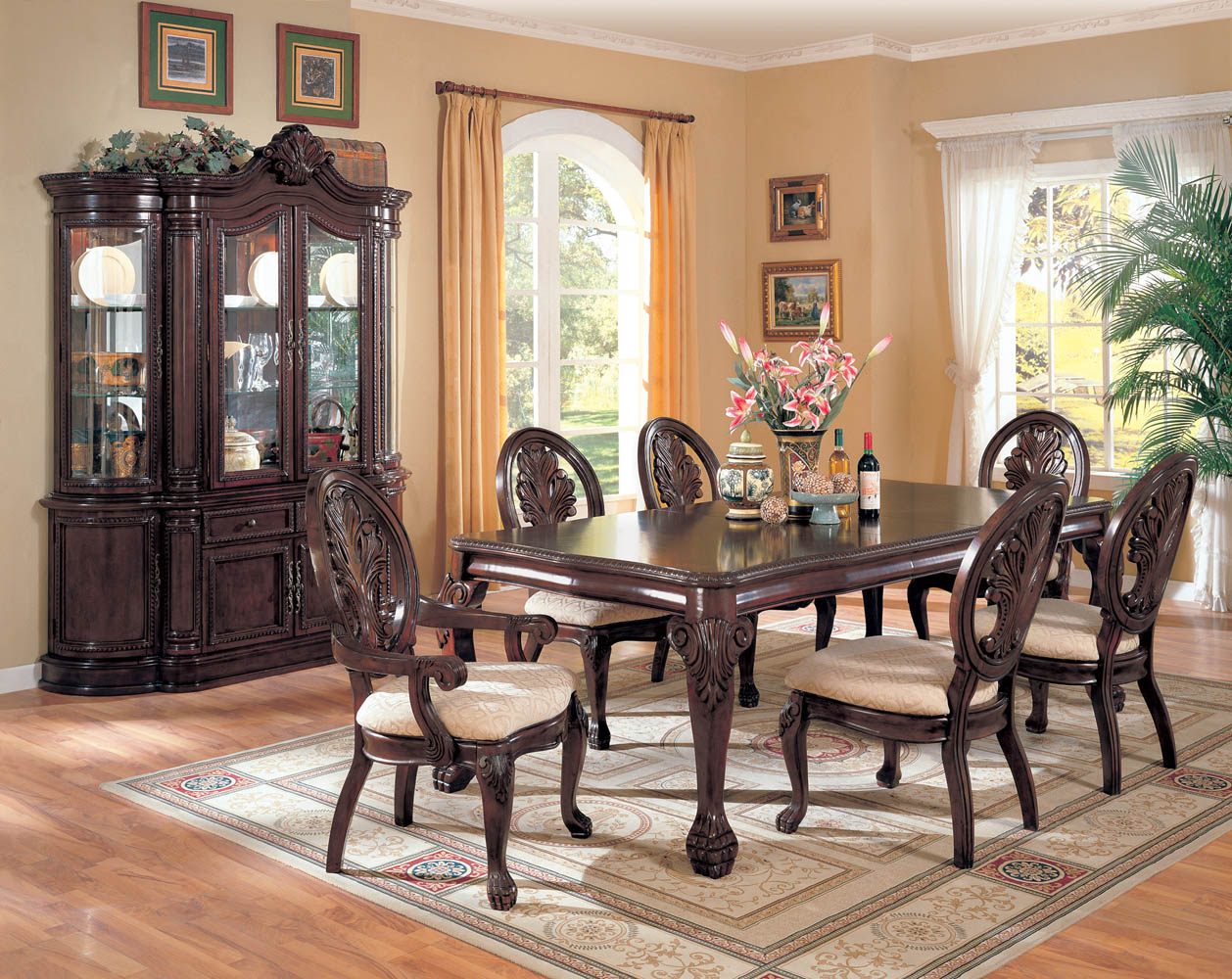 Cherry Master Dinning Room Table Set