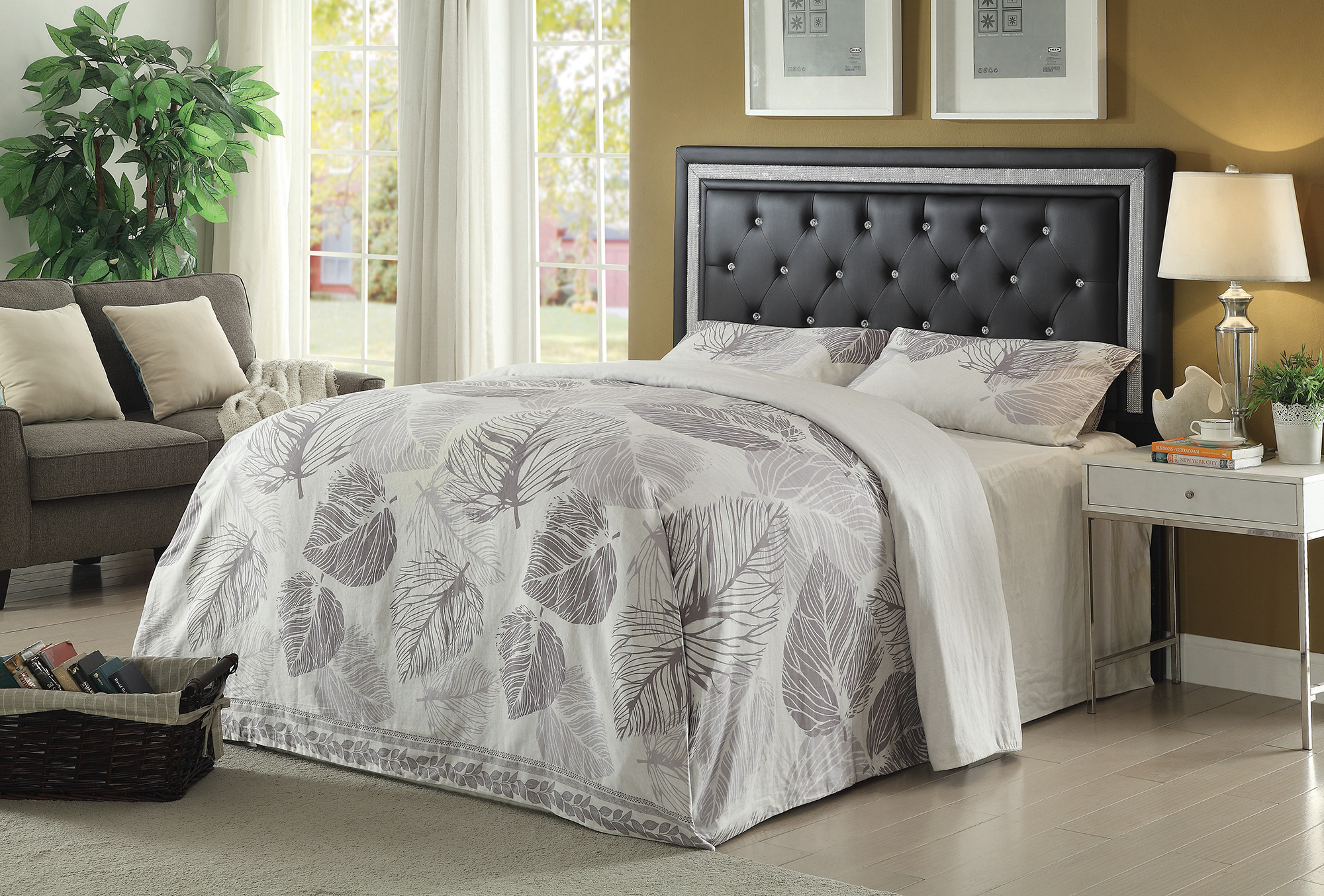 Queen Full Andenne Glamorous Contemporary Headboard