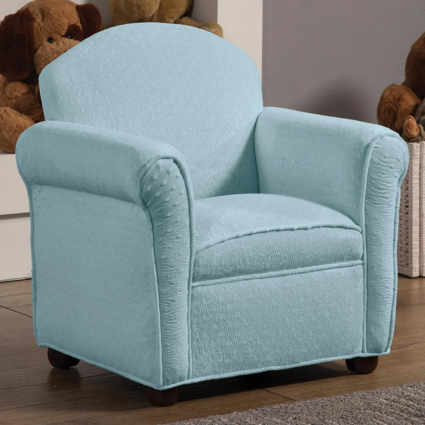Light Blue Kids Accent Chair