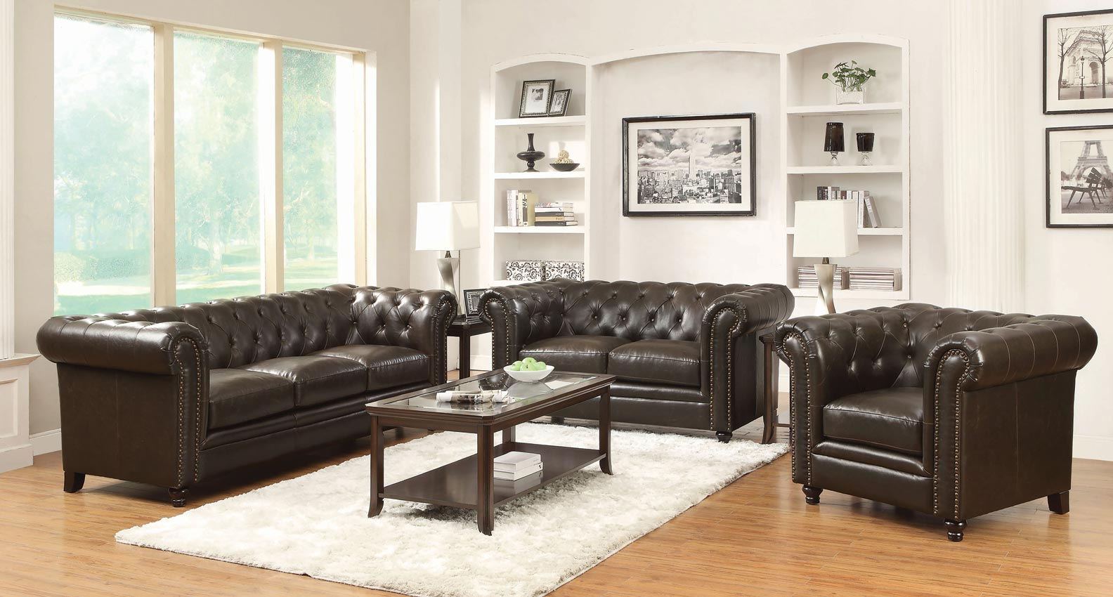 innovative traditional living room furniture | Roy Traditional Button-Tufted Sofa with Rolled Back and Arms