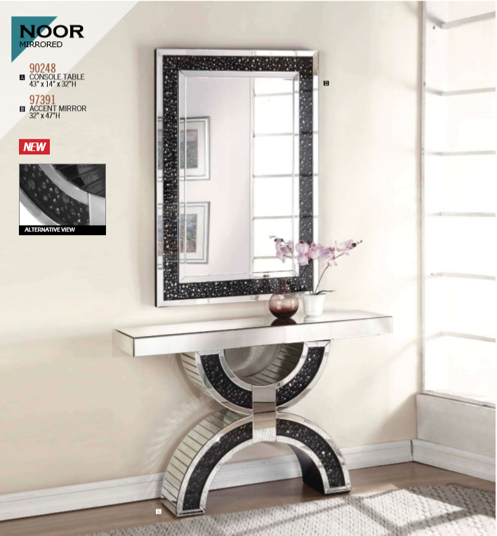 Noor Mirrored Console Table
