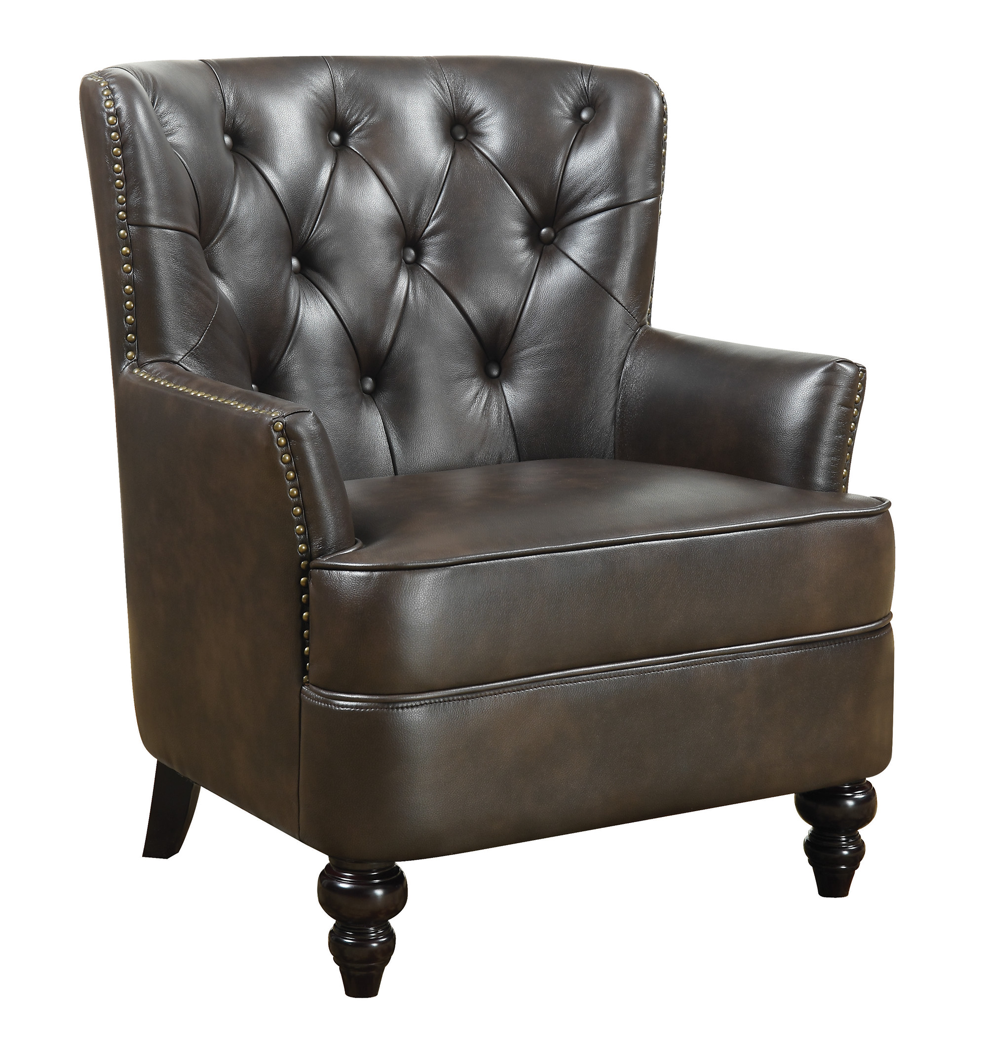 Upholstered Accent Chair With Diamond Tufting