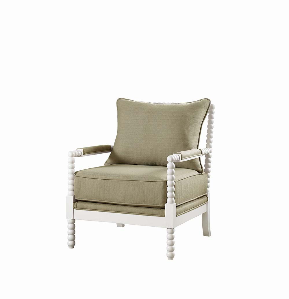 Accent Chair with Beaded Frame- color option