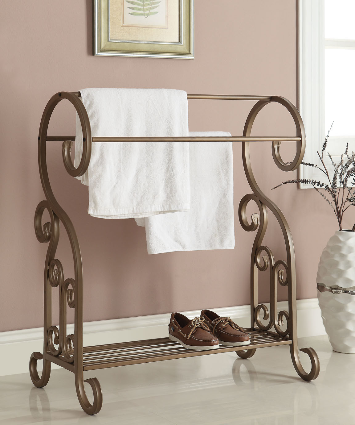 antique towel rack antique gold finish towel rack 1299