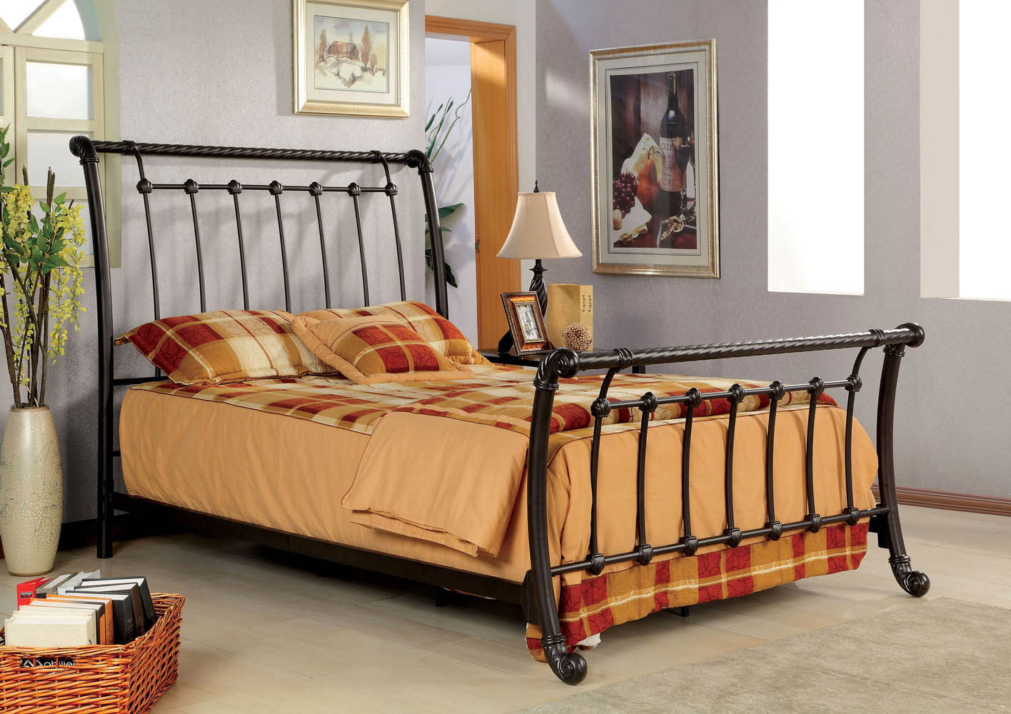 Full lourdes metal bed frame - Bed frames for small rooms ...