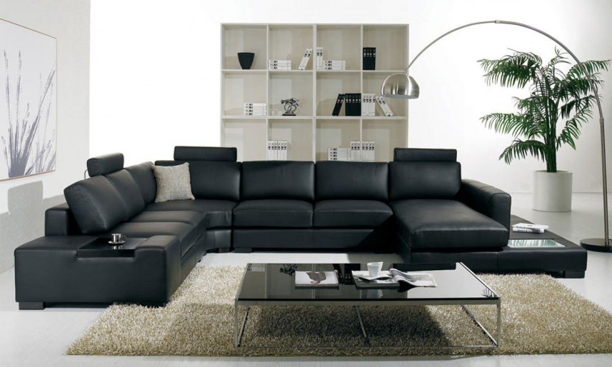White Leather Sectional Sofa modern leather sectional sofa with light-umft35