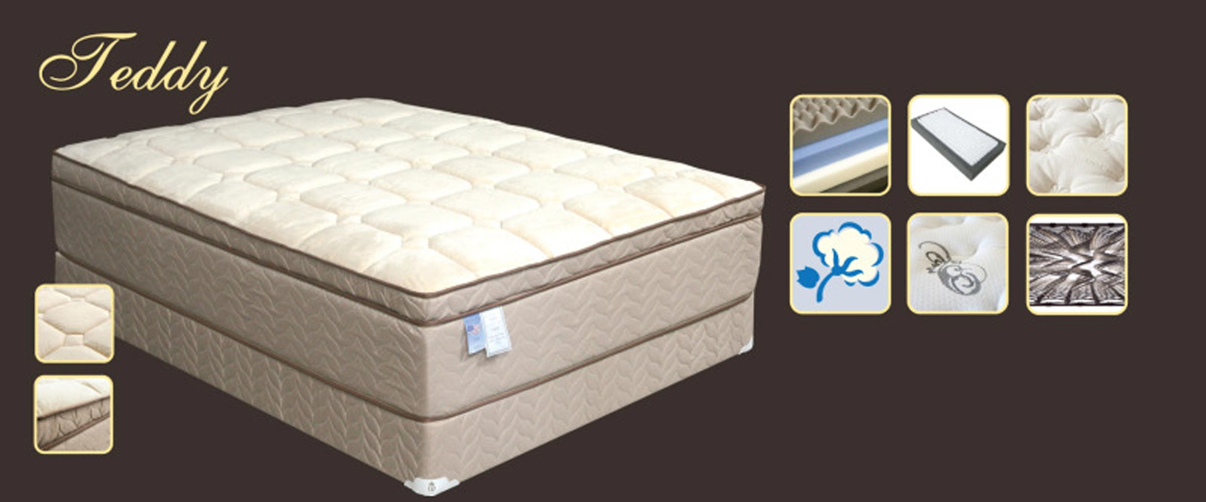 Teddy Bear Pillow-Top Mattress Set