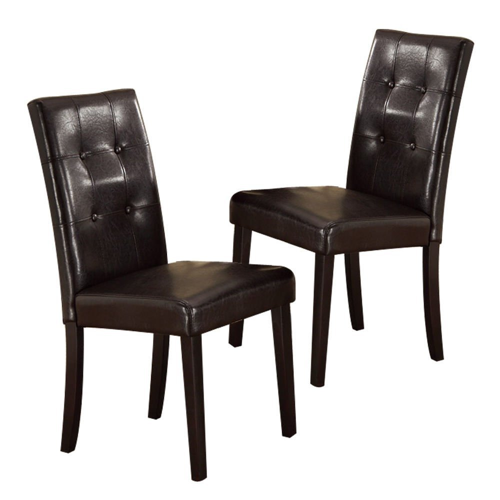 Dark Espresso Dining Chairs (2)