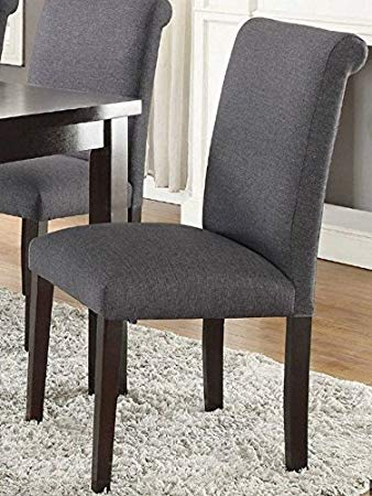 Blue Grey Finish Dining Chairs (2)