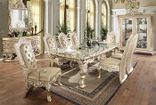 7 Pcs Dining Set Homey Design Victorian, European & Classic Design