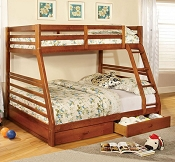 California III TWIN/FULL Bunk Bed with Roller Drawers Included