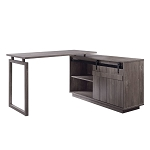 ACME Bellarosa Desk w/Cabinet - 92270 - Farmhouse - Wood (Rbw), MDF, PB - Gray Washed