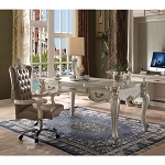 ACME Versailles Executive Desk (Leg) - 92275 - Bone White