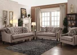 COLTEN - Gray Fabric Sofa Set w/ 2 Pillows
