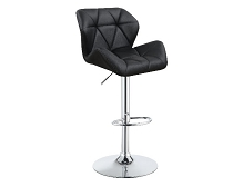 Adjustable Bar Stools Chrome and Black, White or Grey (Set of 2)