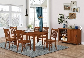 7 Pcs Formal Dining Table Set -Sienna Brown