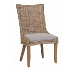 Country Cottage Woven Dining Chair Pair (2)