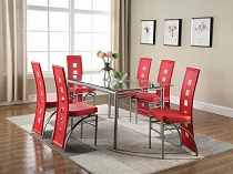 Los Feliz Contemporary 5 Pcs Metal Dining Table