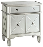 Silver Mirror One Drawer Cabinet