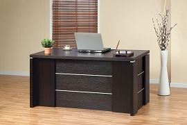 Red Cocoa Finish Office Desk