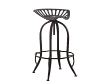 Adjustable Height Bar Stool Antique Black, White or Red