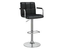Adjustable Height Bar Stool Black, White, Grey, Brown, Beige or Orange and Chrome