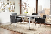5 Pcs Metal Dining Table Set