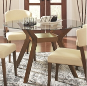 5 Pcs Round Glass Dining Table