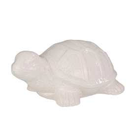 CERAMIC 17.5 TURTLE, WHITE