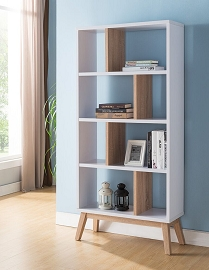 White & Weathered Bookshelf