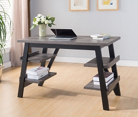 Distressed Grey & Black Desk Desk