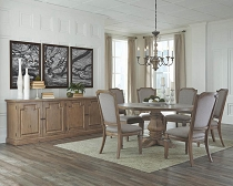 Florence Rustic Round Dining Table Set