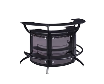 1 unit Wine Rack Bar Unit Smoked And Black