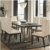 Friedman Modern Dining Table with Bronze Base