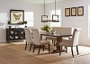6 Pcs Mapleton Rustic Amber Dining Table Set